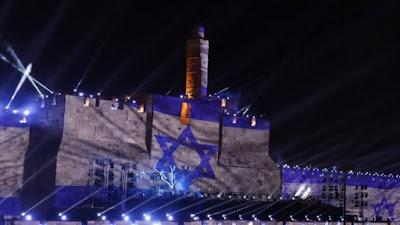 Jerusalén se viste de azul y blanco en su día