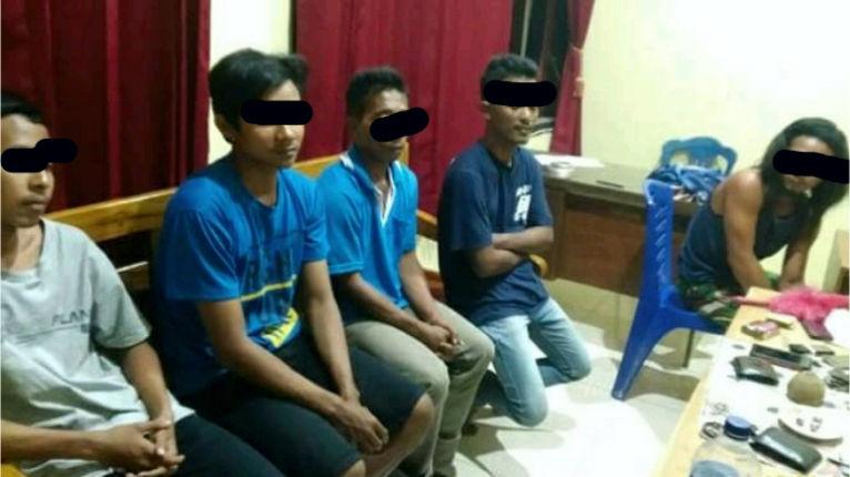 Asyik Judi Dadu, Lima Orang Diglandang Polisi