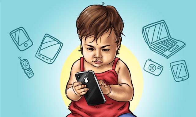 Teguran Untuk Orang Tua, Si Kecil Sering Mainkan Gadget Akibatkan Jadi Susah dan Terlambat Bicara