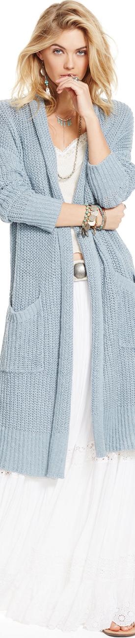Ralph Lauren Crochet-Inset Tiered Maxiskirt