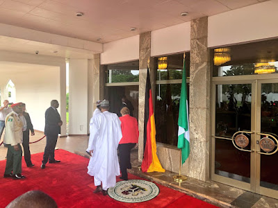 President Buhari Receives German Chancellor, Angela Merkel In Aso Rock (Photos)