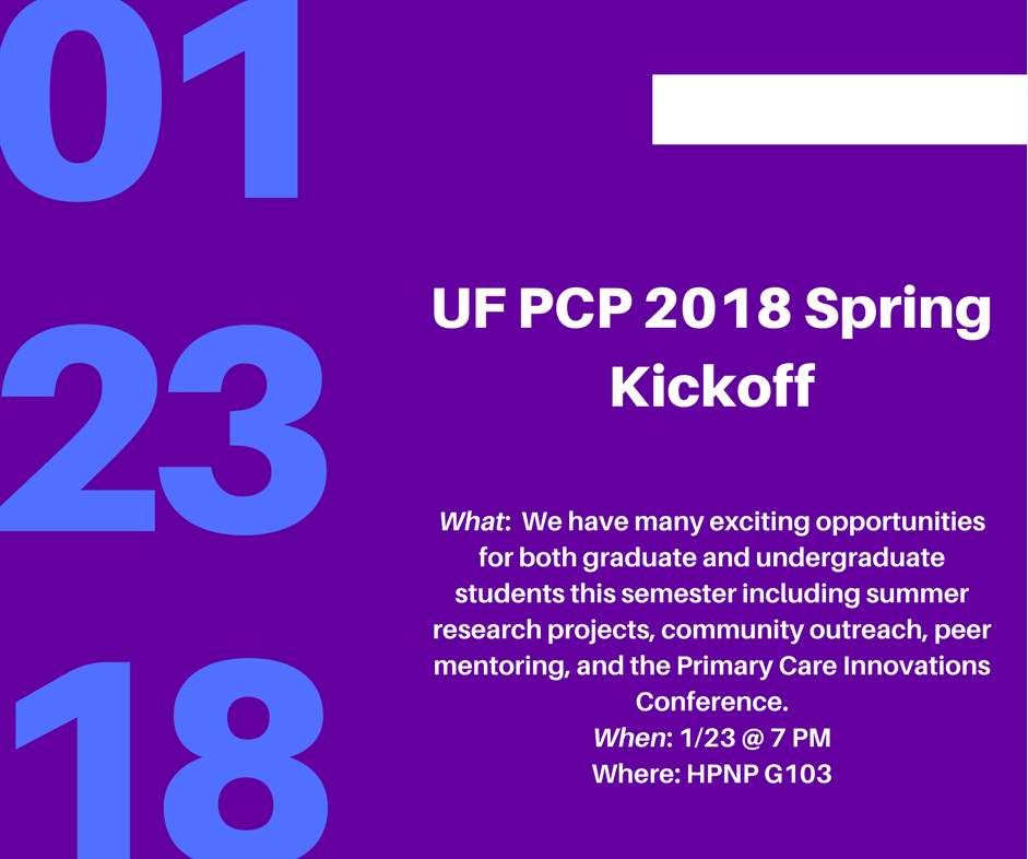 UF Pre-Health Buzz: Primary Care Progress Kick-Off Event