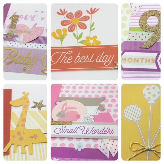 Whimsy Baby Girl Scrapbooking Scrapook --- free workshop download! (better now than never)
