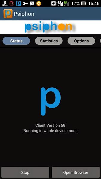 Tutorial Internet Gratis Psiphon di Android Langkah 5