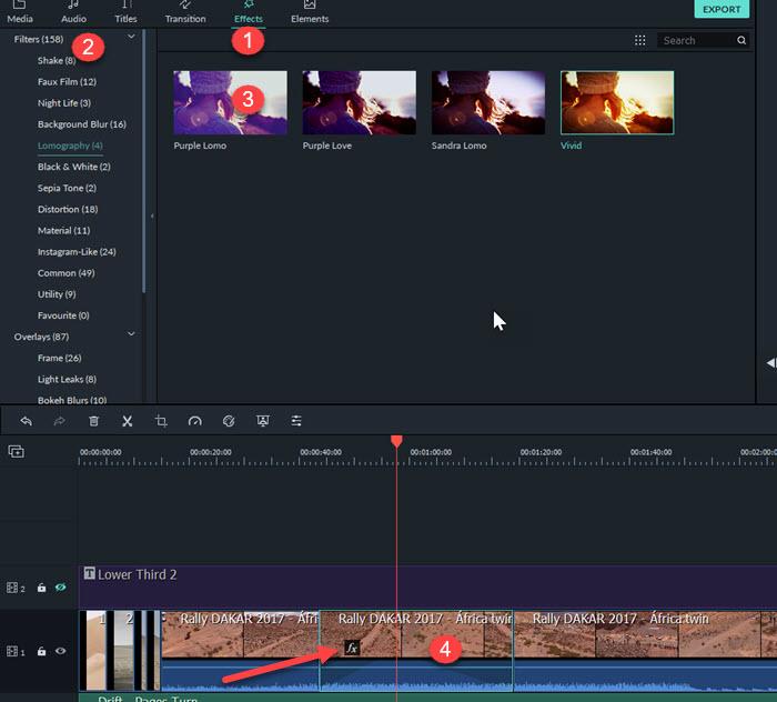 اضافة مؤثرات الفيديو على برنامج فيلمورا Filmora Video Effects