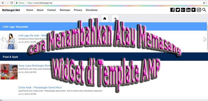 Cara Menambahkan Widget Feed di Template AMP - BeHangat.Net