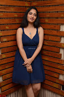 Radhika Mehrotra in a Deep neck Sleeveless Blue Dress at Mirchi Music Awards South 2017 ~  Exclusive Celebrities Galleries 009.jpg