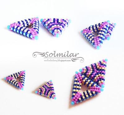 Beading: Kolorowe trójkąty