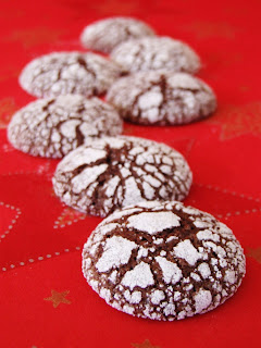 Besneeuwde chocoladekoekjes