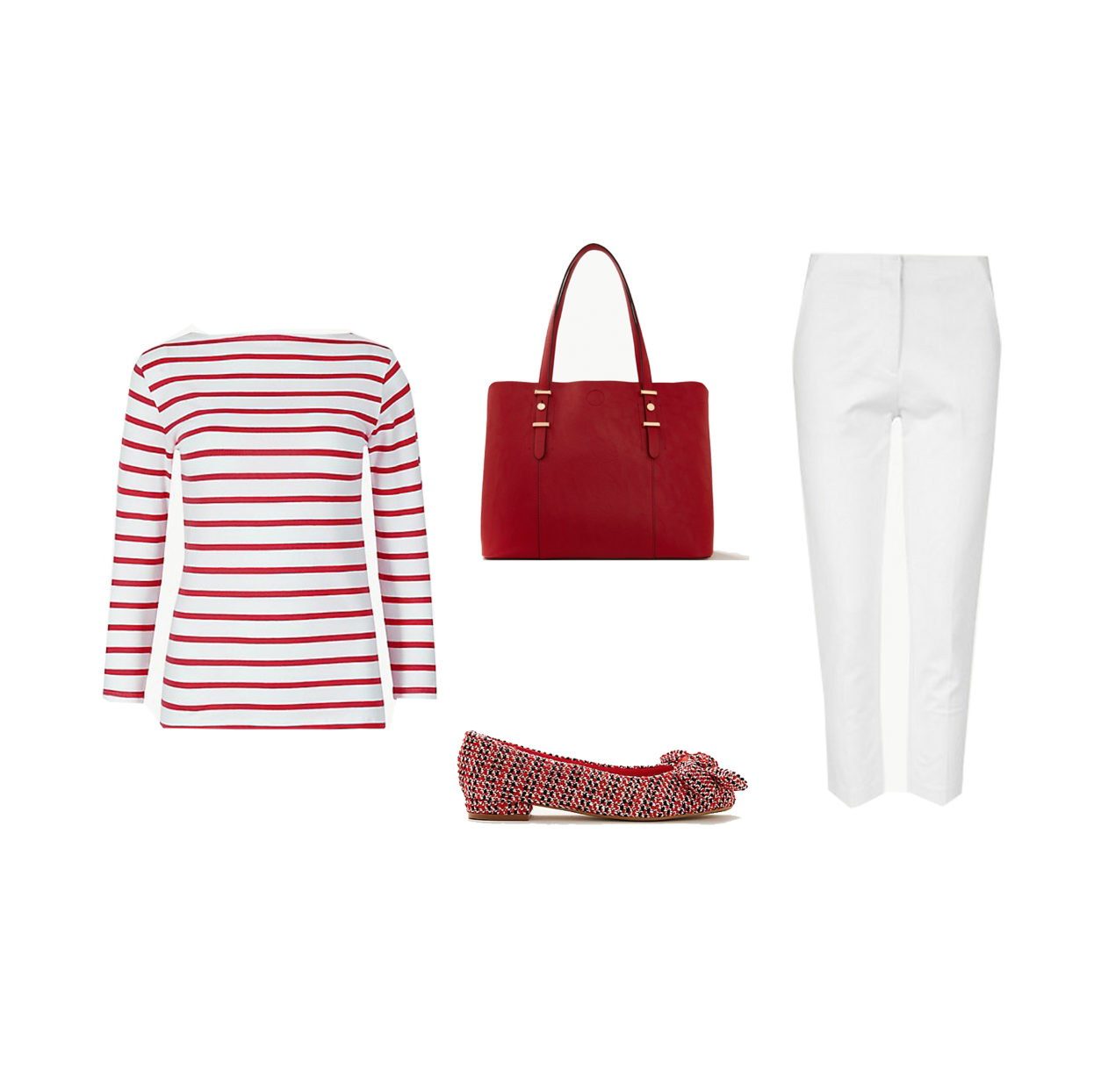 my midlife fashion, marks and spencer cotton rich striped fitted t shirt, marks and spencer faux leather soft stud tote bag, marks and spencer cotton rich slim cropped trousers, marks and spencer extra wide fit bow ballet pumps