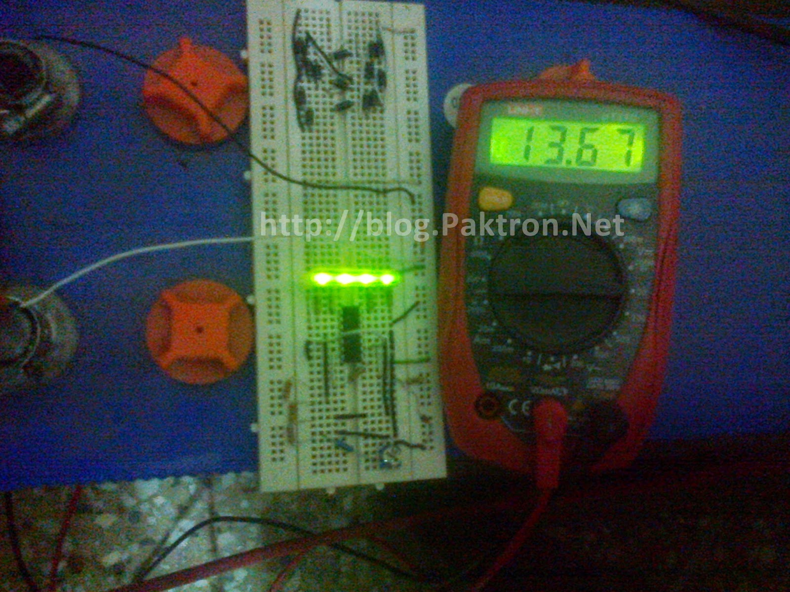 battery level indicator 3 on bread board