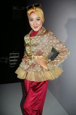 Baju Batik Muslim Kerja Modern