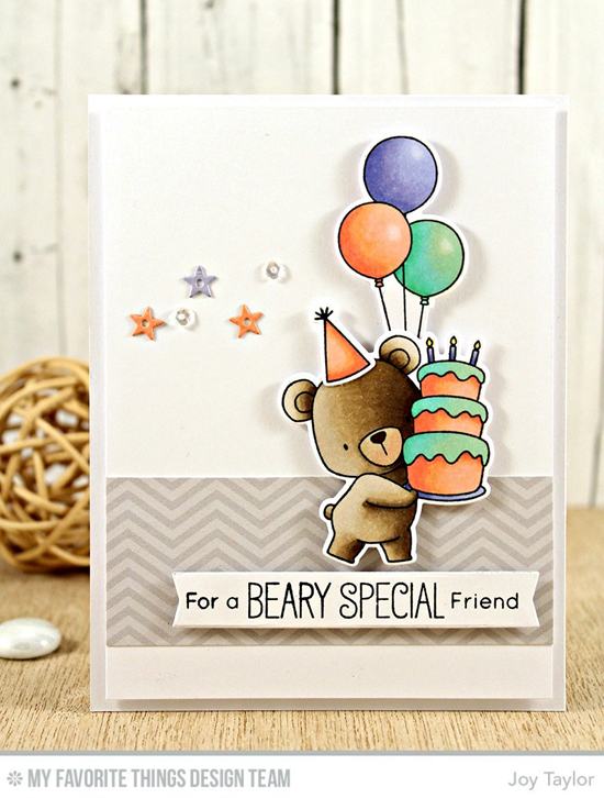 Handmade card from Joy Taylor featuring Birdie Brown Beary Special Birthday stamp set and Die-namics, Blueprints 24 and Blueprints 30 Die-namics #mftstamps