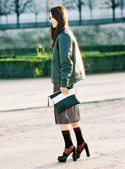 WHISPER blog: SALTO + MEIAS #peeptoe #shoes #streetstyle