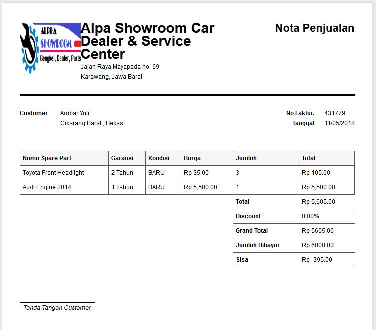 Aplikasi Bengkel Dealer Dan Showroom Mobil Menggunakan Php
