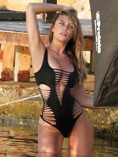 Abbey Clancy black Bikini