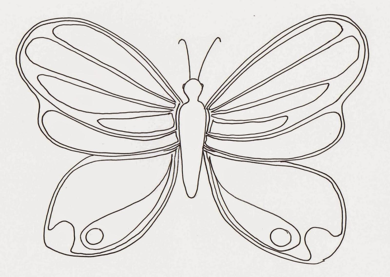 Lujo Mariposa Detallada Para Colorear Motivo - Dibujos Para Colorear ...