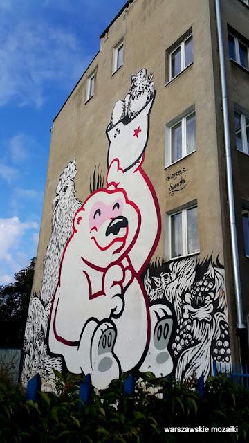 Warszawa Warsaw Bielany murale warszawskie kamienica street