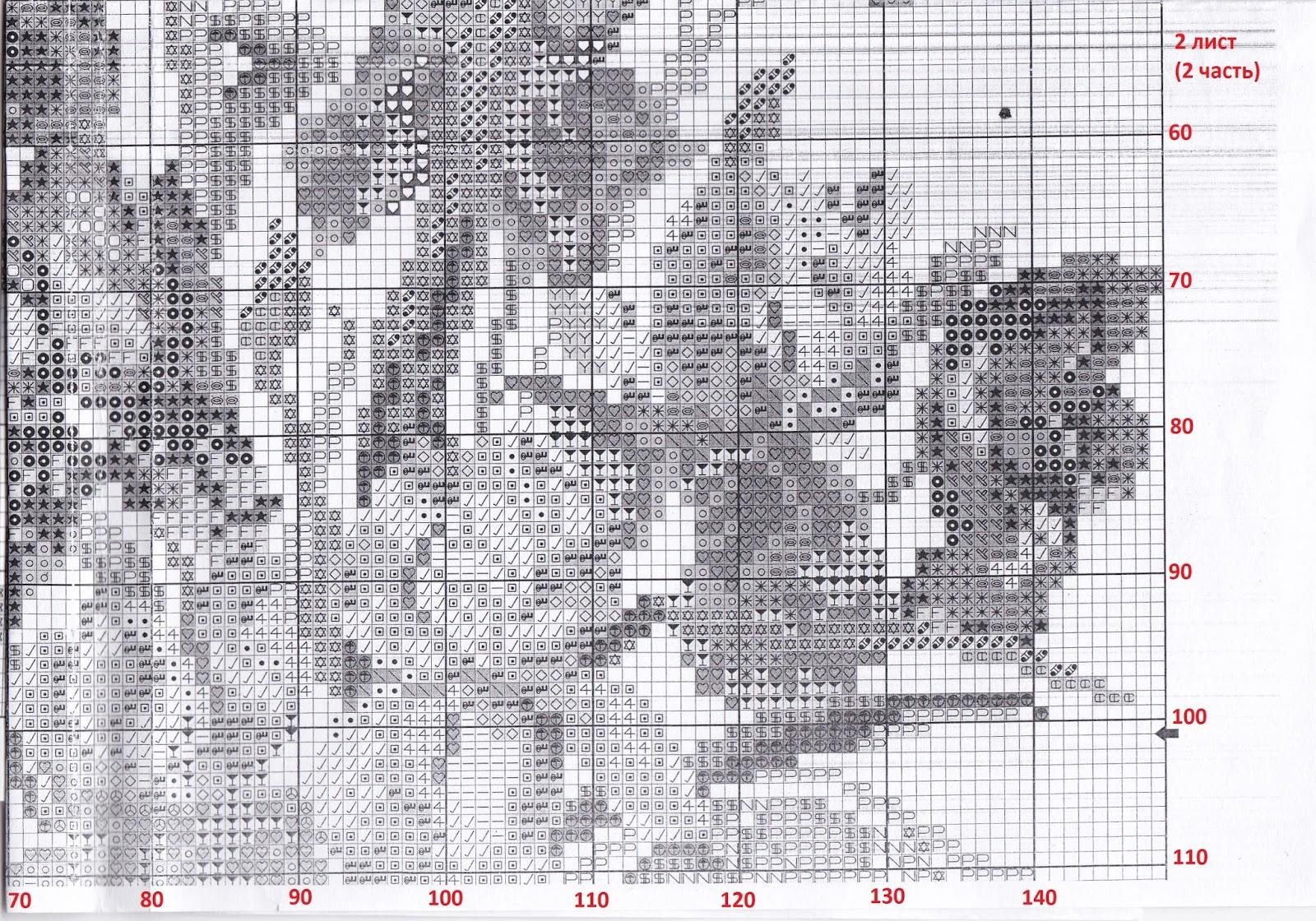 схема ирисы вышивки на черной канве схемы