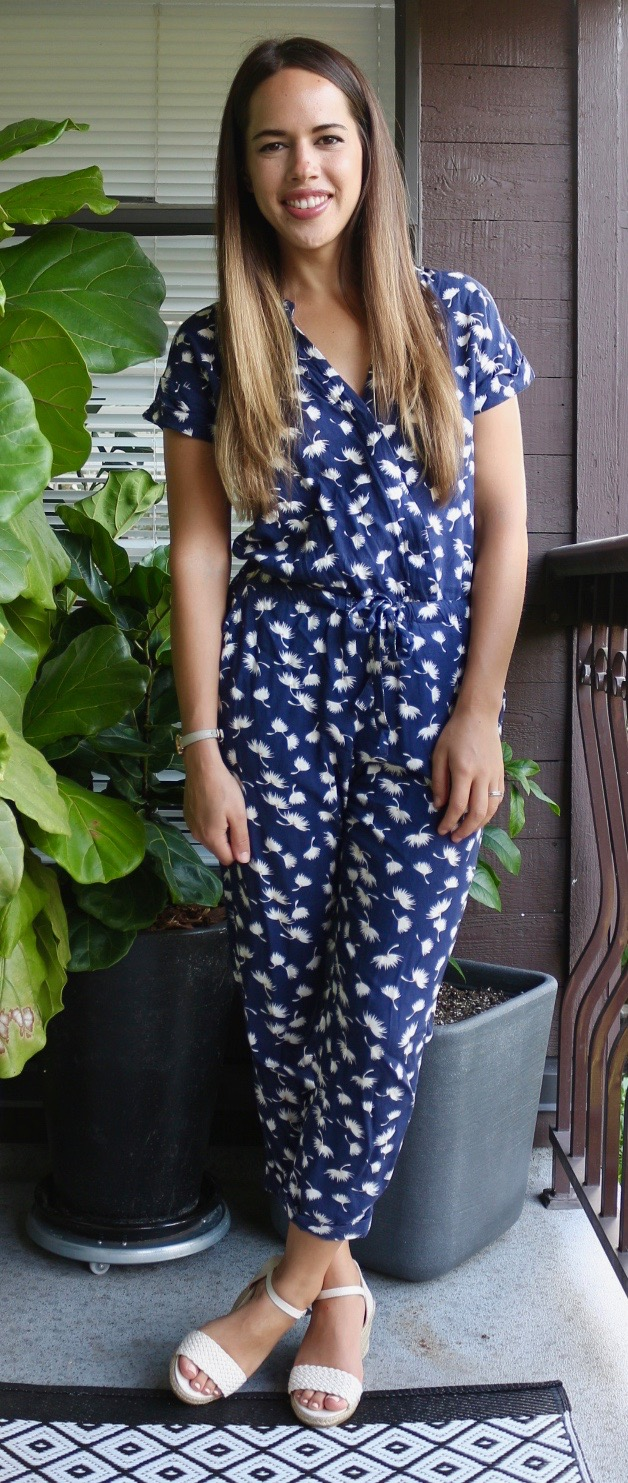 Jules in Flats July Outfits - Old Navy Jumpsuit