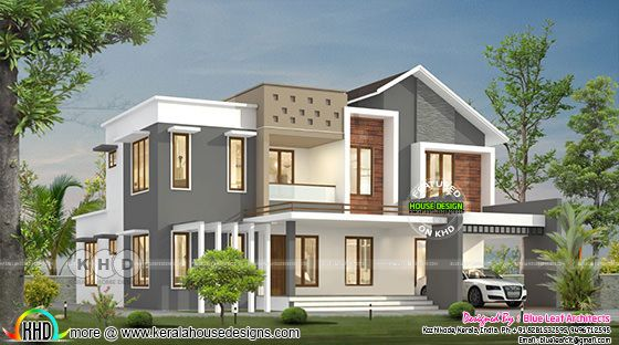 2589 square feet 4 bedroom mixed roof house