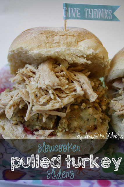 Slow Cooker Pulled Turkey Sliders from www.anyonita-nibbles.com