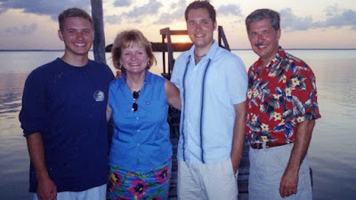 From left, Kevin, Tricia, Thomas and Kent Whitaker appear in this undated family photo.