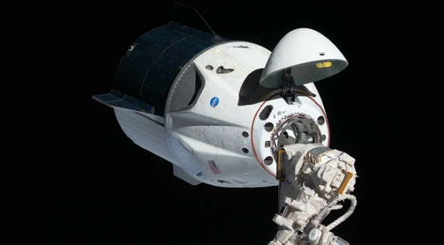 SpaceX Crew Dragon capsule has successfully docked with the International Space Station