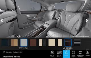 Nội thất Mercedes Maybach S600 2017 màu Xám Crystal (508)