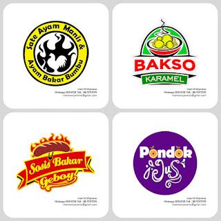 logo sosi bakar, logo bakso, logo ayam bakar, jogo juice, desain logo