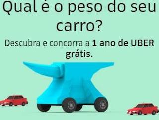 Cadastrar Promoção 1 Ano Uber Grátis Peso do Seu Carro Participar