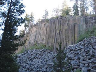 Die Basaltsäulen des Devil's Postpile