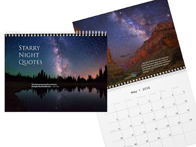'Starry Night Quotes' 2018 Wall Calendar