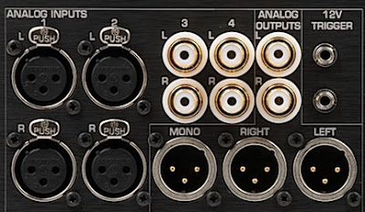 Benchmark HPA4 Rear Panel Inputs/Outputs