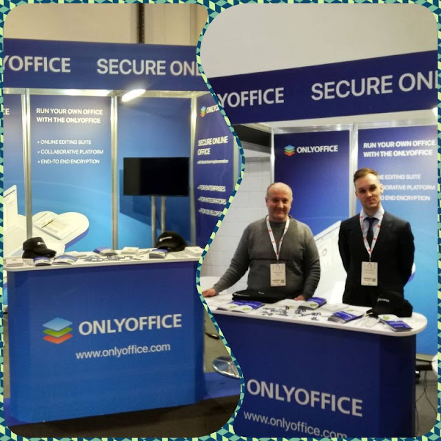 ONLYOFFICE booth at Cloud Expo Europe