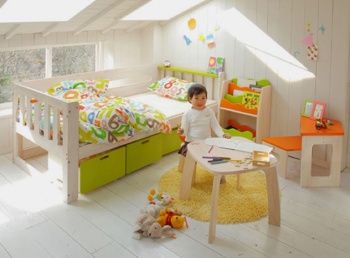 Japanese toddler single bed E-KO