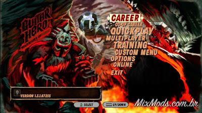 gh3 guitar hero III mod warriors of rock WOR menu zones