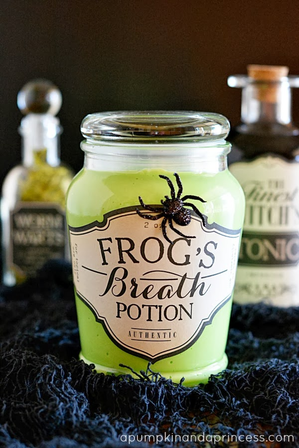 Making Fake Breath Potion for a Halloween Party