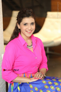 Actress Mannar Chopra in Pink Top and Blue Skirt at Rogue movie Interview  0181.JPG
