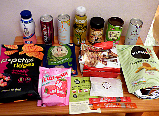 healthy snacks, food box