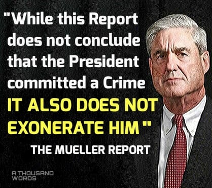 trump quote on mueller report