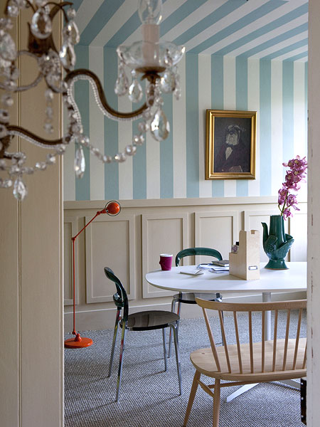 New home interior design household basic gallery 2 - Papel pintado a rayas verticales ...
