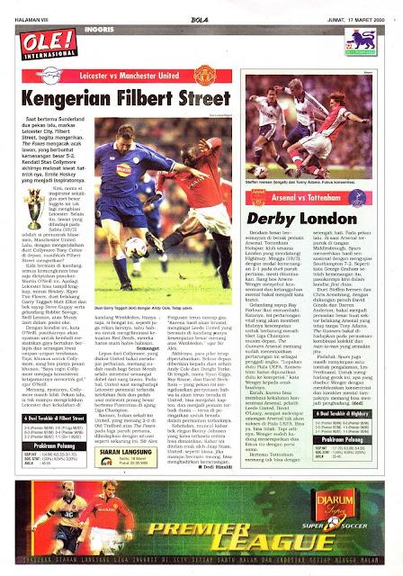 LEICESTER VS MANCHESTER UNITED KENGERIAN FILBERT STREET