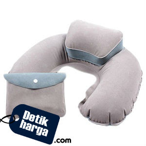 Gracefulvara Inflatable U Shape Neck Pillow (Light Grey)