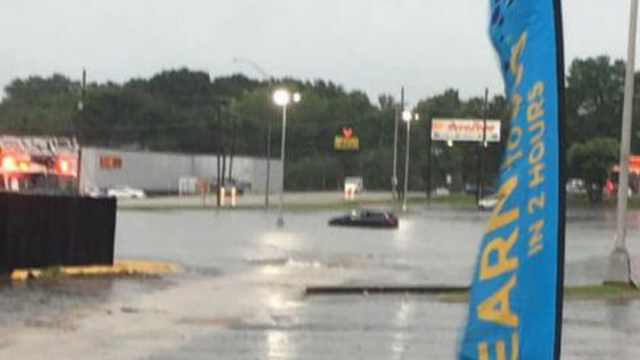 Rain and storms hammer De Kalb and the Ark-La-Tex as woman is trapped on top of her car in Texarkana parking lot
