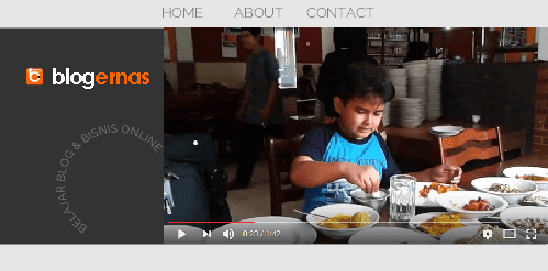 Cara Menampilkan Video YouTube  pada Header Blog