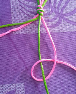 make four macrame patterns with larks head knot, educational power creation