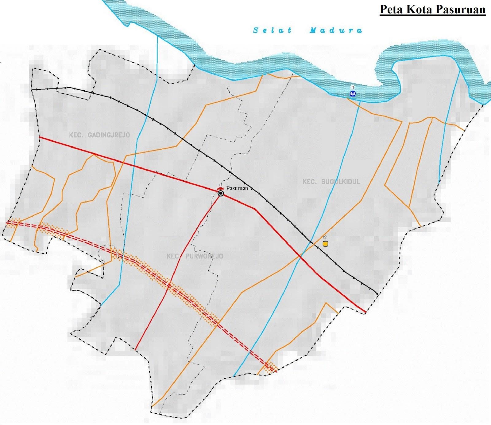 Peta Kota Pasuruan HD