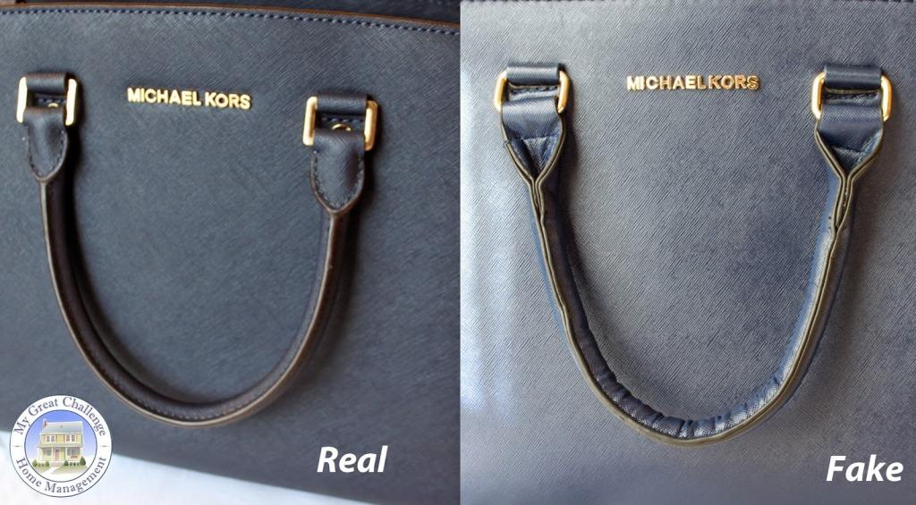 f630a1e04694f Tak wygląda różnica jeżeli chodzi o wykończenie mocowania rączek  Bok  torebki
