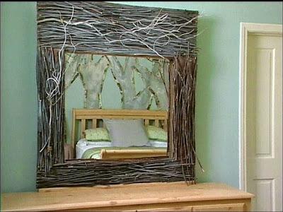 Espejo diy con madera reciclada